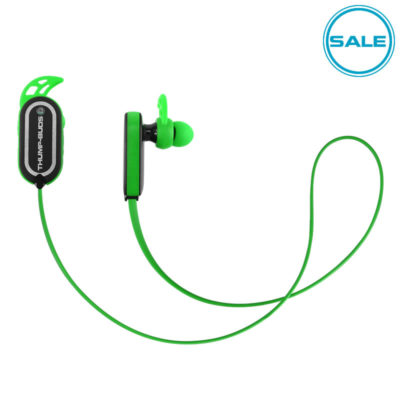 Green Thump-Buds Bluetooth Earbuds Wireless