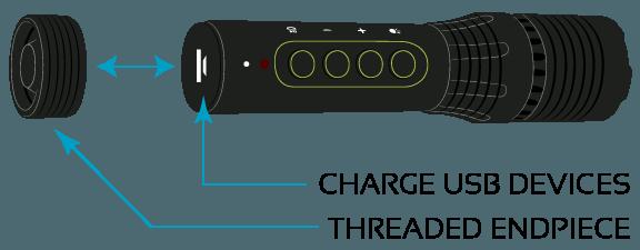 ULXA Flashlight, Aluminum, USB Charging