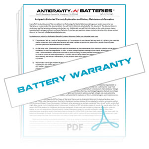 Antigravity Powersports Batteries Warranty