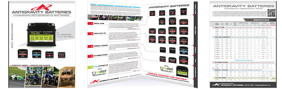 Antigravity Lithium Batteries Specs Brochure