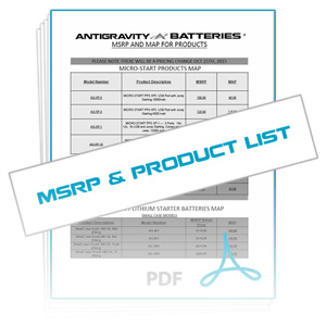 Download Reseller MSRP & Antigravity Products List