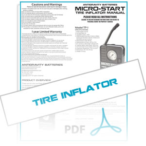 Micro-Start Tire Inflator Instruction Manual