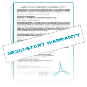 Micro-Start Warranty Details & Claim Form