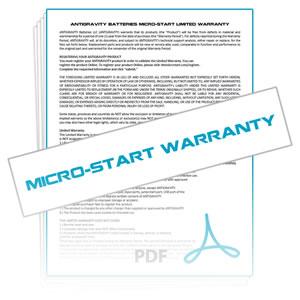 Micro-Start Warranty Details & Claim Form