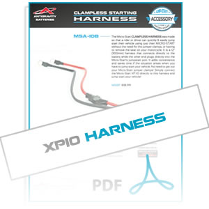 MSA10B Clampless Harness Info Sheet