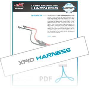 MSA10B Clampless Harness Info Sheet
