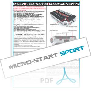 SPORT Micro-Start Instruction Manual