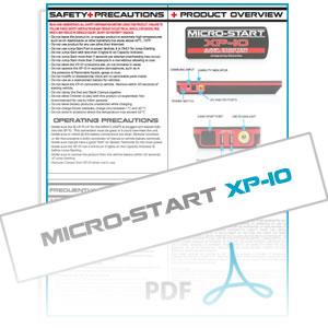 XP-10 Micro-Start Instruction Manual