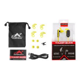 Yellow Thump-Buds: Wireless Earbuds Kit