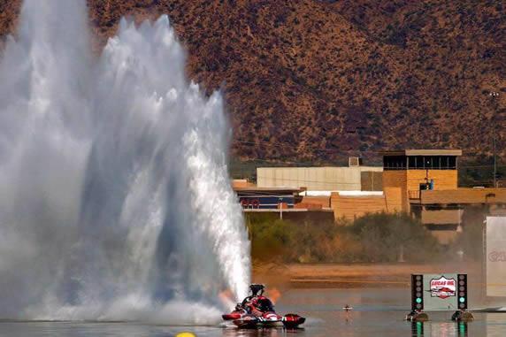 Nitrochondriac Top Fuel Hydro Drag Boat Team, Antigravity Batteries-sponsored