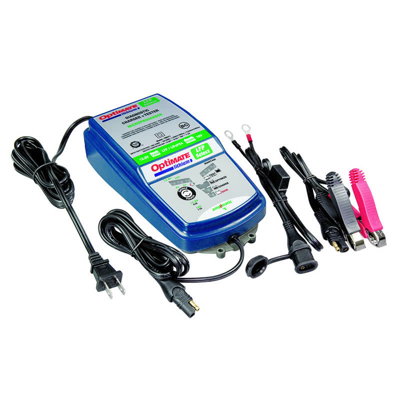 Optimate TM-271 Kit for Lithium Battery, Charger Tester Maintainer