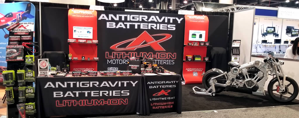Antigravity Batteries SEMA Show, Confederate Motors P51 Combat Fighter
