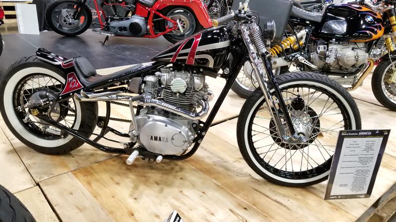 AIM Expo 2017 Retro Custom Yamaha Bike