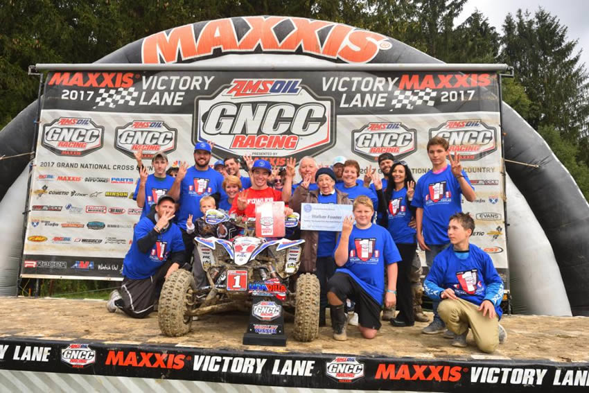 Walker Fowler GNCC Victory, Friends & Family