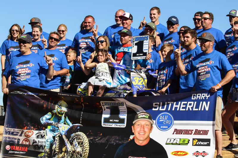 Purvines DA8 Yamaha Racing Gary Sutherlin WORCS Champion