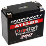 AT12-BS-RS Lithium Motorsports Battery with RE-START