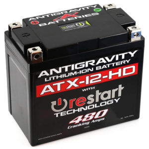 ATX-12-HD-RS Lithium Motorsports Battery with RE-START