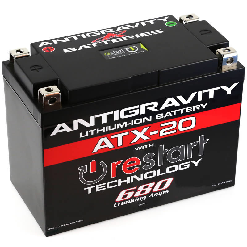 ATX-20-RS Lithium Motorsports Battery with RE-START