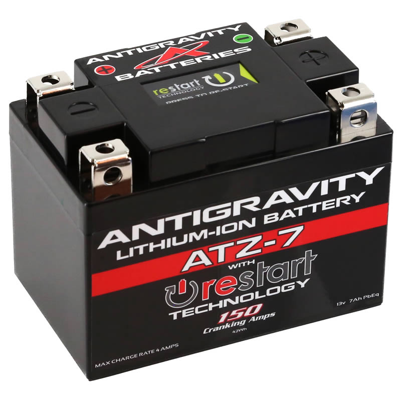 ATZ-7-RS Lithium Motorsports Battery with RE-START