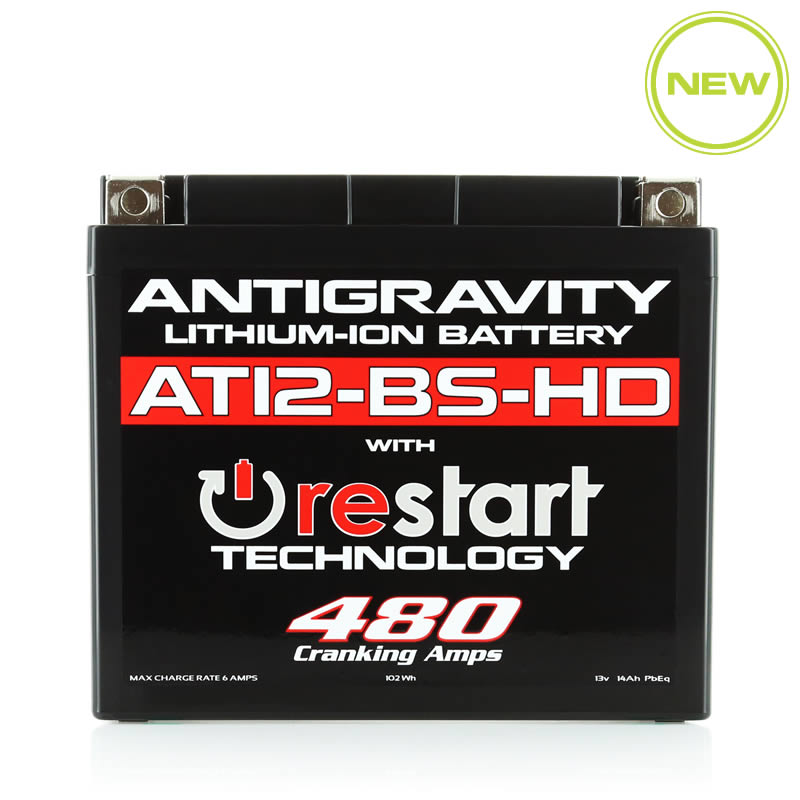 AT12-BS-HD Re-Start Battery by Antigravity, front view