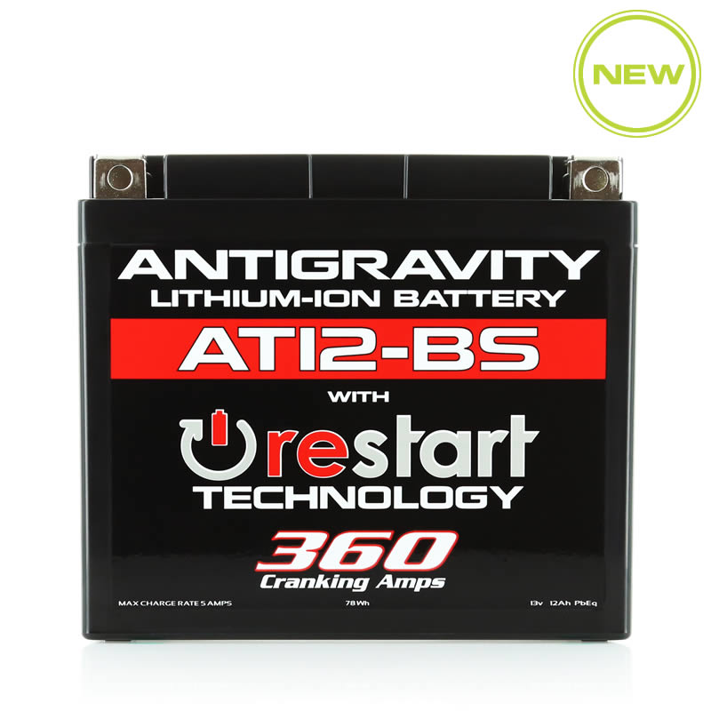 AT12-BS Re-Start Battery by Antigravity, front view