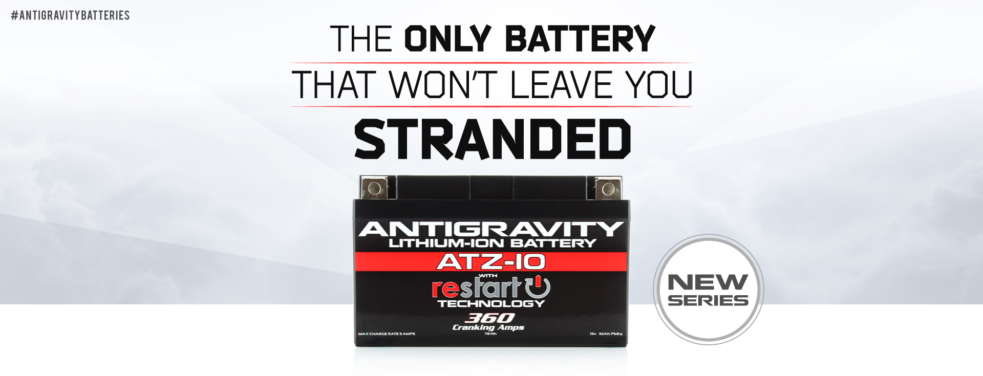 NEW Lithium RE-START Batteries by Antigravity