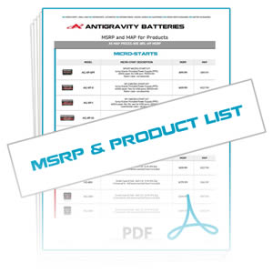 Download Reseller MSRP/MAP & Antigravity Products List