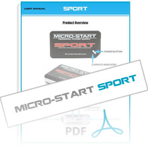 SPORT Micro-Start User Instruction Manual