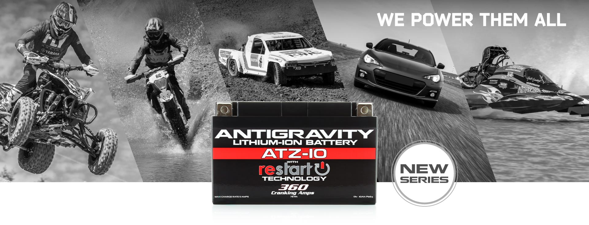 Antigravity Lightweight Lithium Powersports Batteries