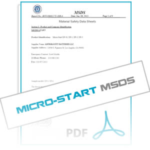 MSDS for Micro-Starts