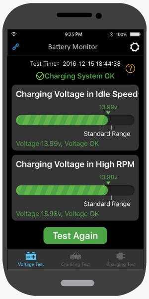 Charging Test, Antigravity Battery Tracker Bluetooth App