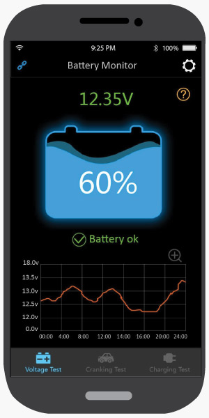 Voltage Test, Antigravity Battery Tracker Bluetooth App
