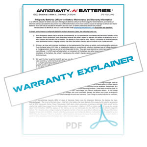 Antigravity Warranty Explainer for Lithium Starter Batteries