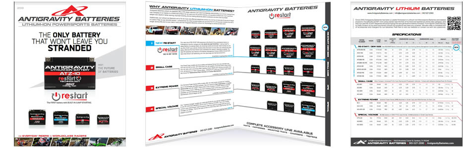 Antigravity Lithium Powersports Batteries Brochure & Specs