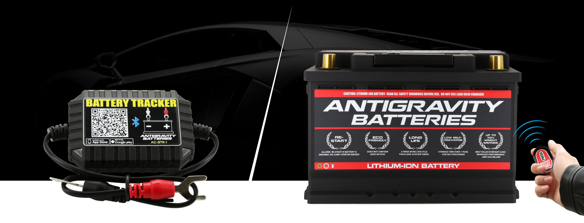 Antigravity NEW Automotive Batteries, Bluetooth Trackers