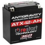 ATX12-AH Lithium Motorsports Battery with RE-START