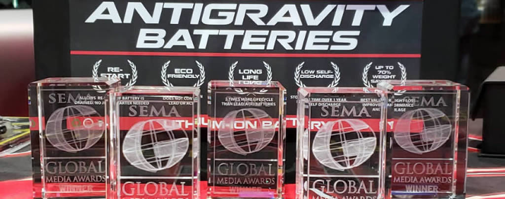 Antigravity Batteries SEMA Show 2019 Global Media Awards Winner